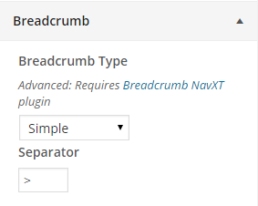 Breadcrumb type