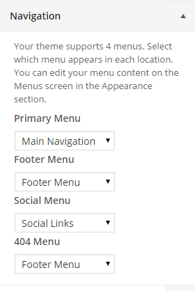 Navigation menu