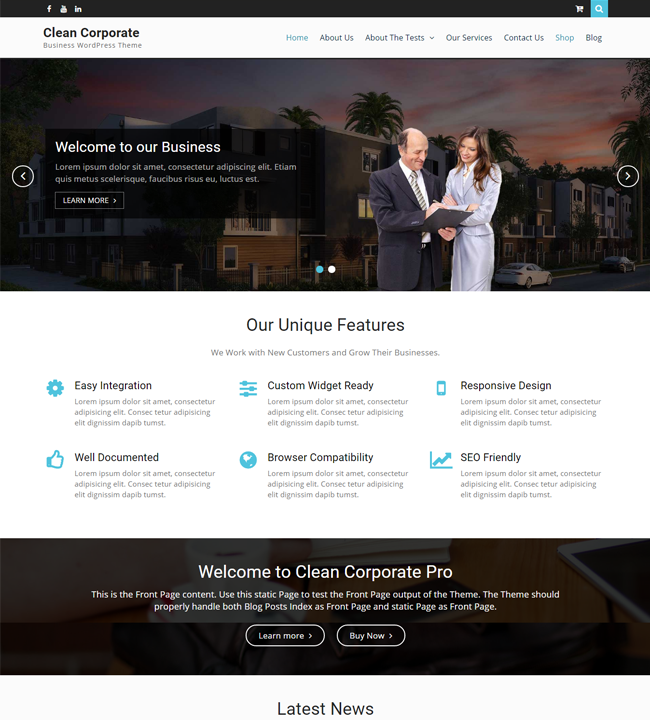Clean Corporate – WEN Themes