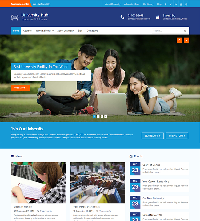 University Hub – WEN Themes