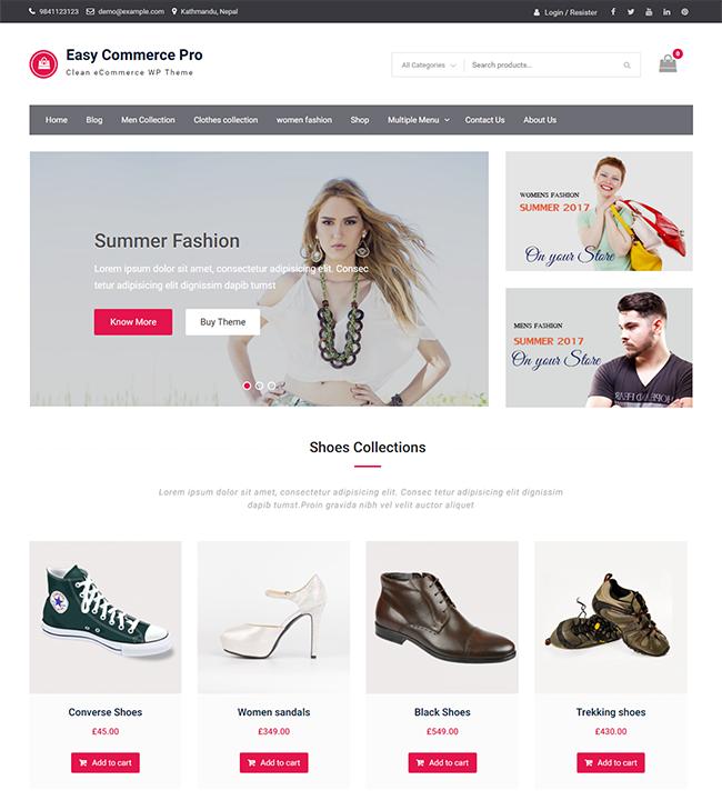 easy commerce pro wen themes