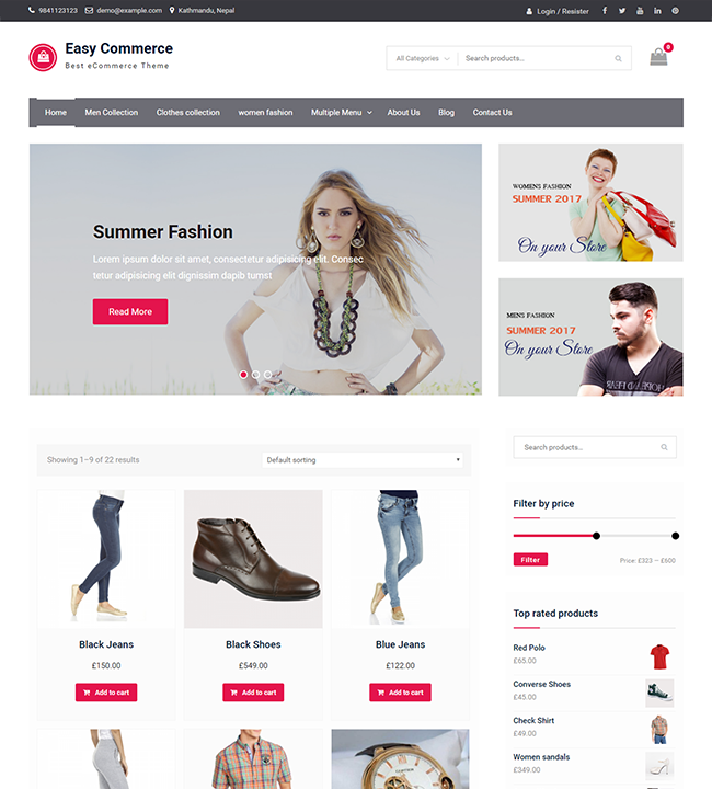 easy commerce wen themes