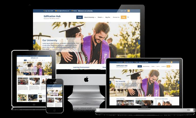Edification Hub is a responsive Education WordPress