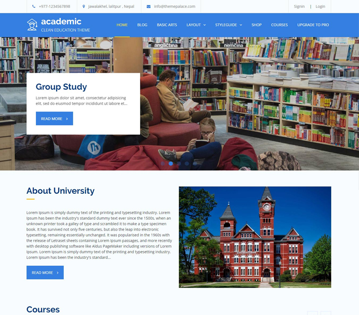 Academic - Best Free Education WordPress Themes