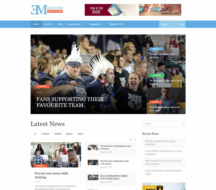 EduMag - Best Free Education WordPress Themes