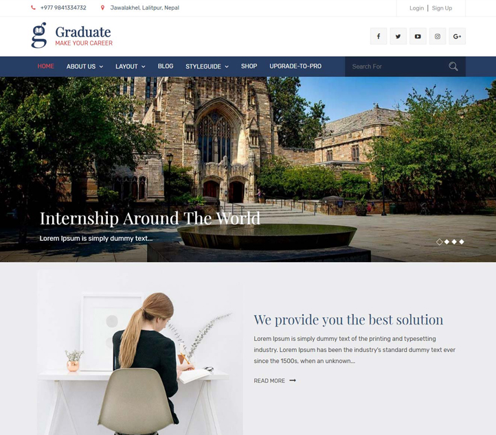 Graduate - Best Free Education WordPress Themes