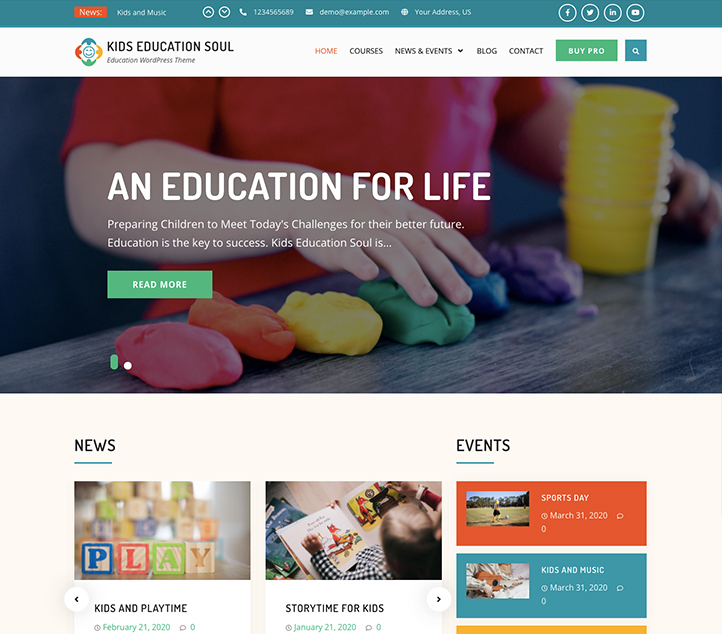 Kids Education Soul - Best Free Education WordPress Themes