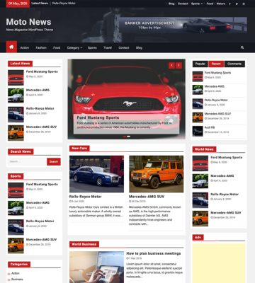 Moto News WordPress Magazine Theme
