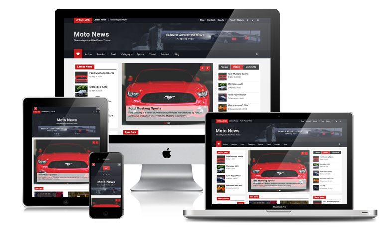 Moto News Magazine WordPress Theme