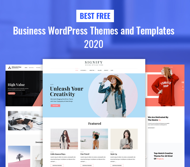 Best Free Business WordPress Themes and Templates 2020 featured image