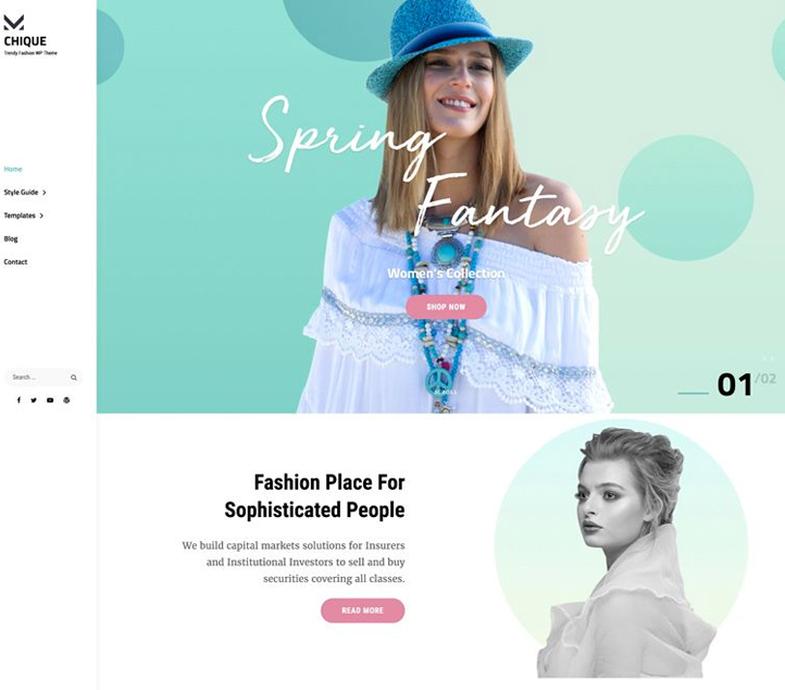 Chique - Best Free Business WordPress Themes and Templates 2020
