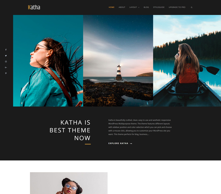 katha - Best Free Business WordPress Themes and Templates 2020