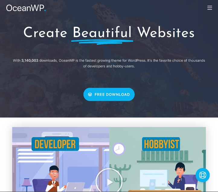 OceanWP - Best Free Business WordPress Themes and Templates 2020