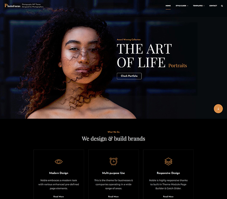 PhotoFocus - Best Free Business WordPress Themes and Templates 2020