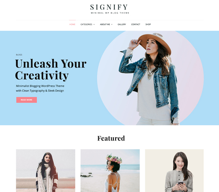 Signify - Best Free Business WordPress Themes and Templates 2020
