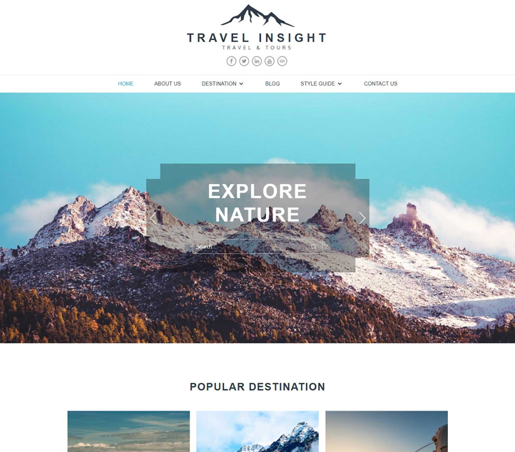 Travel Insight -Best Free Business WordPress Themes and Templates 2020