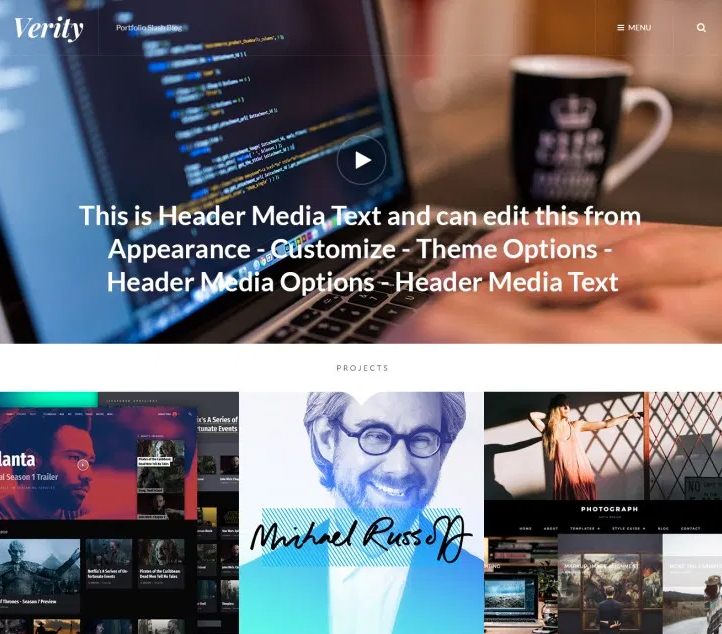 Verity -Best Free Business WordPress Themes and Templates 2020