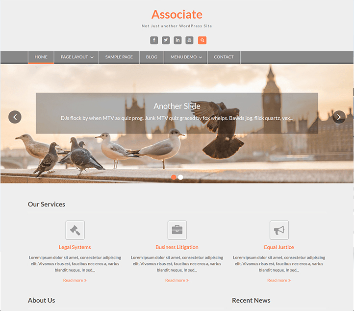 WEN Associate -Best Free Business WordPress Themes and Templates 2020