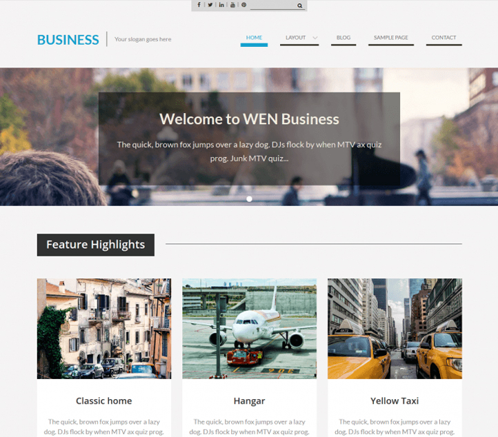 WEN Business -Best Free Business WordPress Themes and Templates 2020
