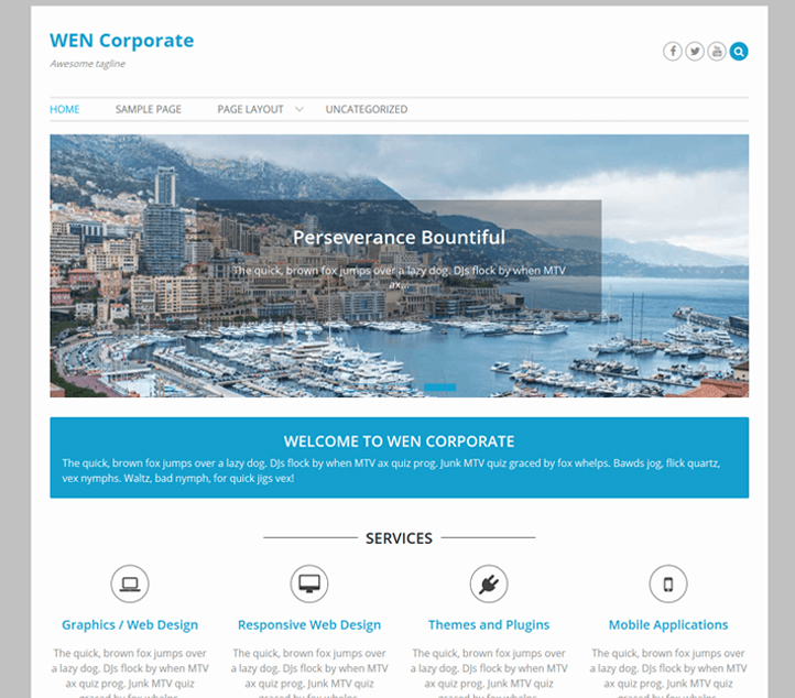 WEN Corporate -Best Free Business WordPress Themes and Templates 2020
