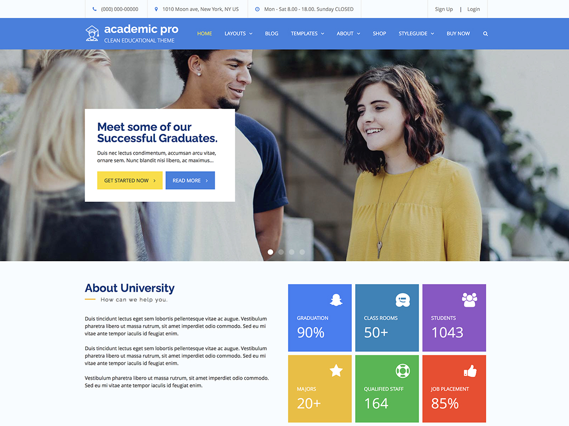 Academic Pro -Best Premium Education WordPress Themes and Templates 2020