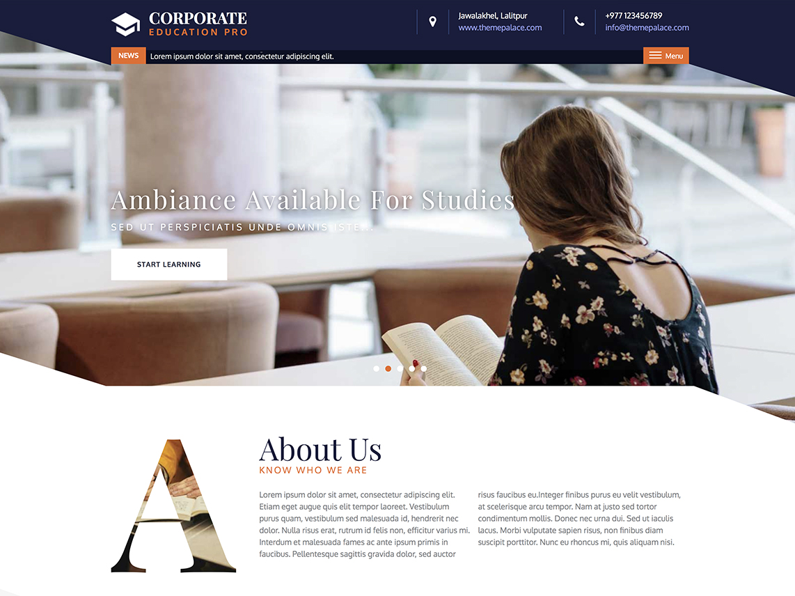 Corporate Education Pro - Best Premium Education WordPress Themes and Templates 2020
