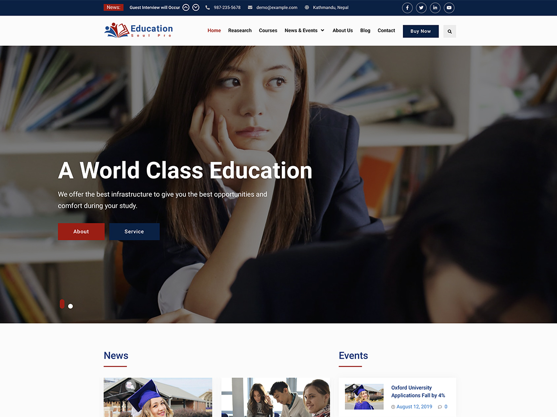 Education Soul Pro - Best Premium Education WordPress Themes and Templates 2020