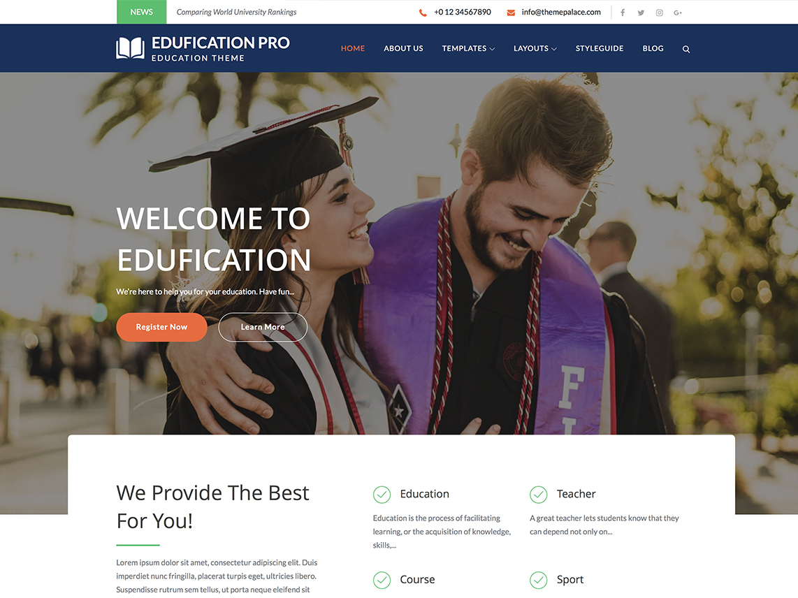 Edufication pro - Best Premium Education WordPress Themes and Templates 2020