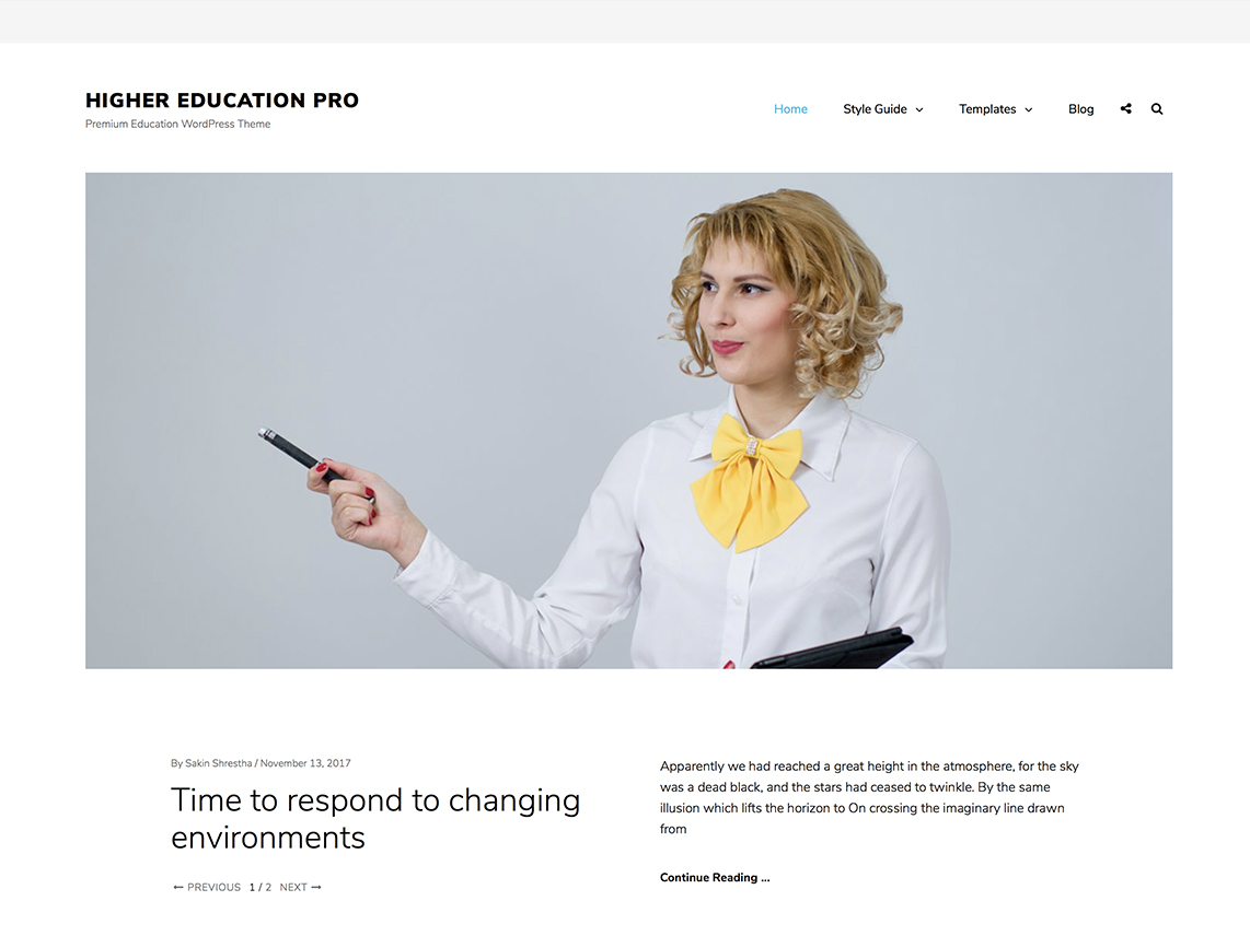 Higher Education Pro -Best Premium Education WordPress Themes and Templates 2020
