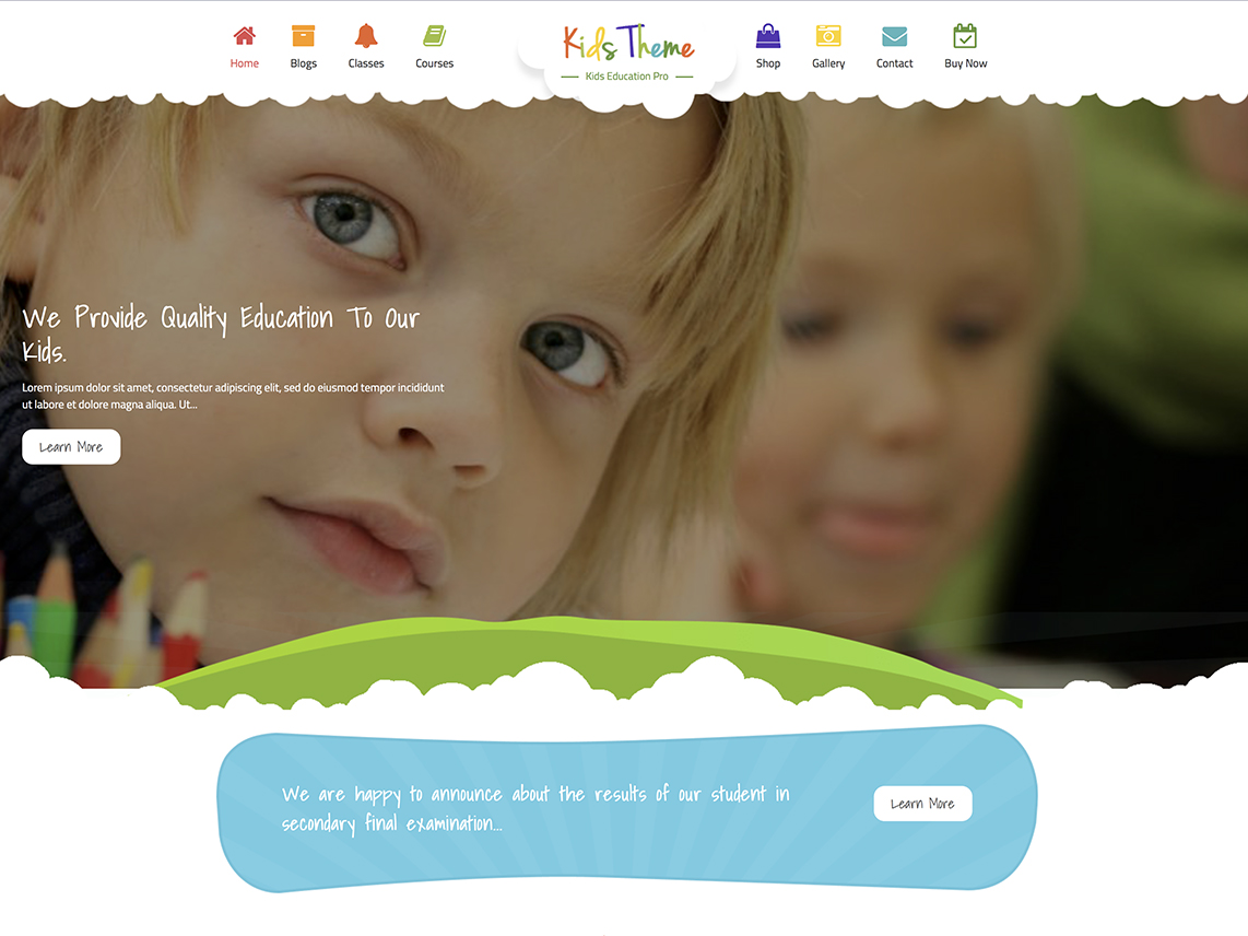 Kids Education Pro - Best Premium Education WordPress Themes and Templates 2020