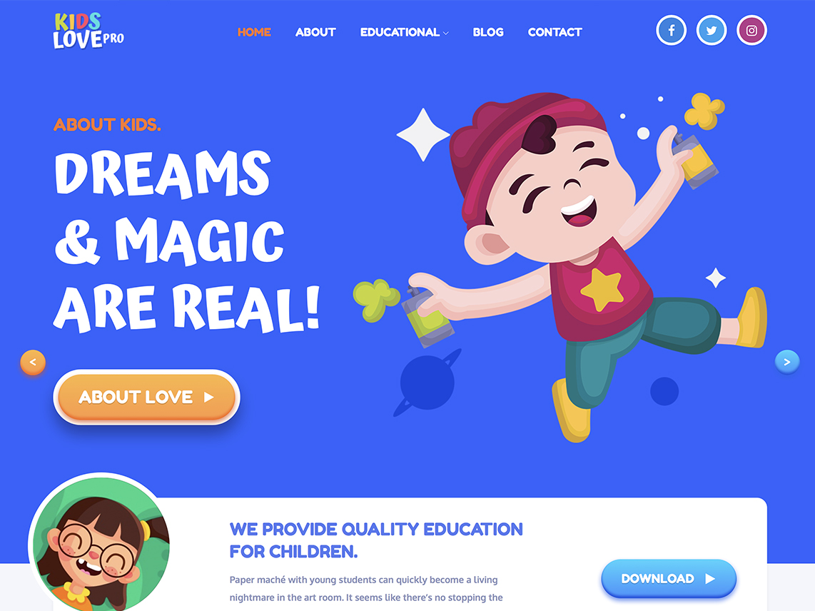 Kids Love Pro -Best Premium Education WordPress Themes and Templates 2020