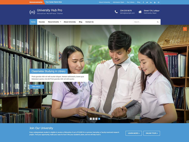 University Hub Pro -Best Premium Education WordPress Themes and Templates 2020