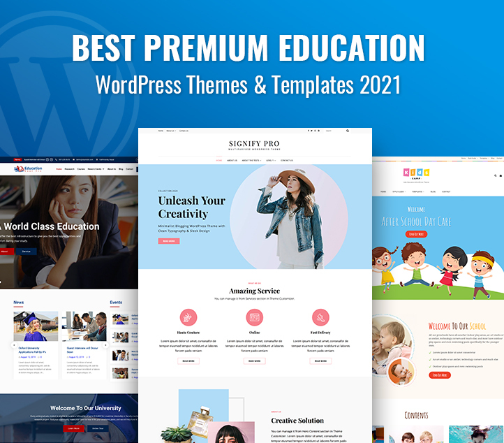 Best Premium Education WordPress Themes and Templates 2021 featured